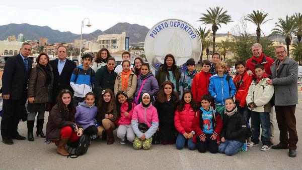 Visita de los ganadores del concurso del 'Christma del Puerto'
