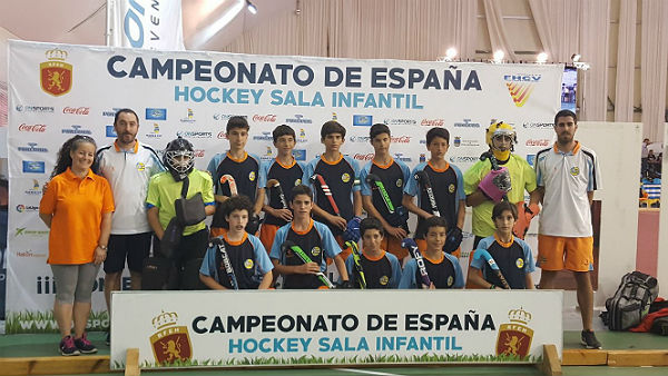 Sexta plaza para el Club Hockey Benalmádena en el Campeonato de España de hockey sala infantil masculino