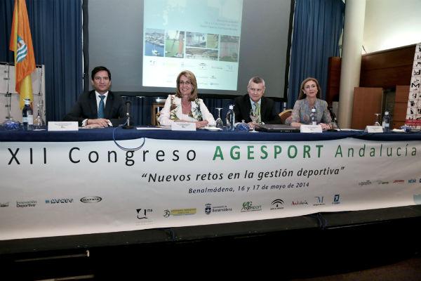La alcaldesa inaugura el XII Congreso Agesport Andalucía 'Nuevos retos en la gestión deportiva'