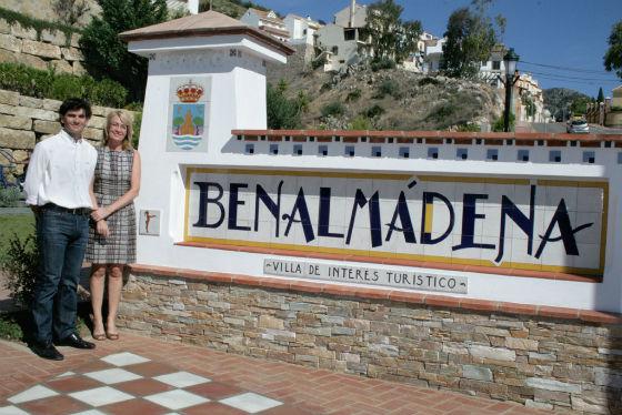 La alcaldesa inaugura el nuevo parque de la avenida Retamar, un espacio que pone en valor una de las principales entradas a Benalmádena Pueblo