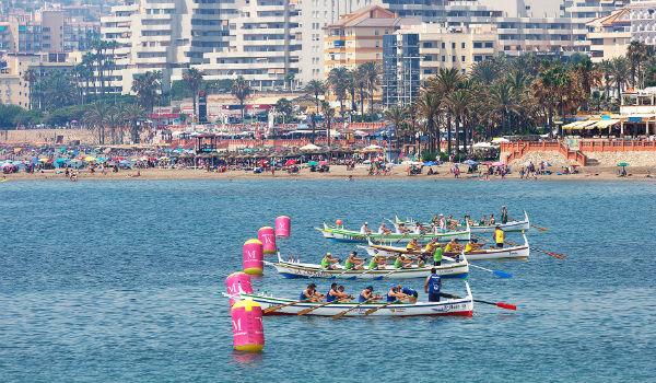 Las aguas de Benalmádena acogieron el pasado fin de semana la 5ª regata de la liga provincial de jábegas, copa Pepe Almoguera