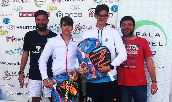 El deportista benalmadense Jairo Bautista, ganador del Circuito Pala Pádel Pro de Madrid