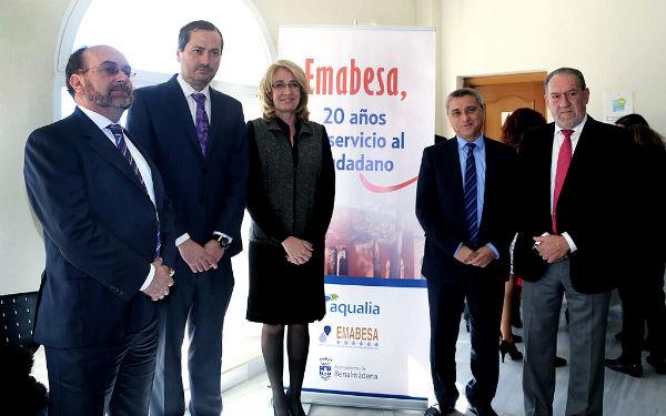 La alcaldesa preside las Jornadas 'Emabesa, 20 años al servicio del ciudadano'.