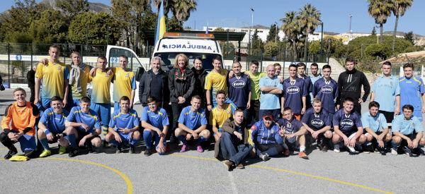 Más de 200 residentes ucranianos participan en una jornada de convivencia y deporte en Benalmádena