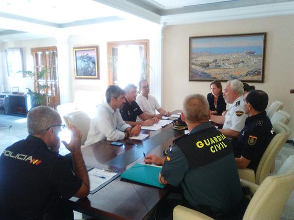 El Alcalde Víctor Navas preside la reunión de la Junta Local de Seguridad