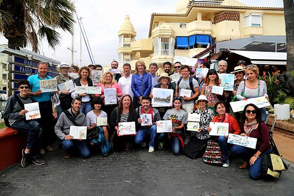 Los mercaderes de Ultramar y los dibujantes de 'Urban Sketchers' afianzan a Puerto Marina como el principal enclave náutico en materia de ocio de la Costa del Sol
