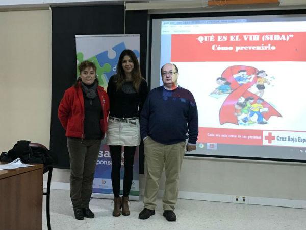 La Concejala Irene Díaz participa en los Actos del Día Mundial de la Lucha Contra el Sida en el IES Cerro del Viento