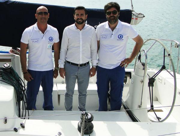 El velero 'Mister J', patrocinado por el Puerto Deportivo de Benalmádena, ganador en la Clase ORC 2 de la Primera Regata Intercontinental Marbella-Ceuta