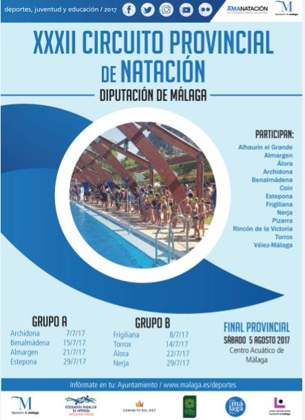 El Polideportivo de Benalmádena Pueblo acogerá el sábado 15 de julio la jornada del circuito provincial de natación.