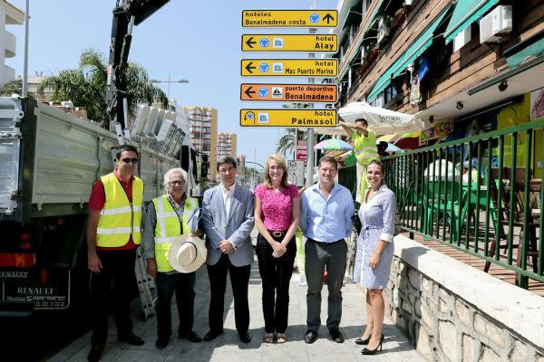 Benalmádena estrena señalización turística para hoteles, campos de golf y centros de ocio