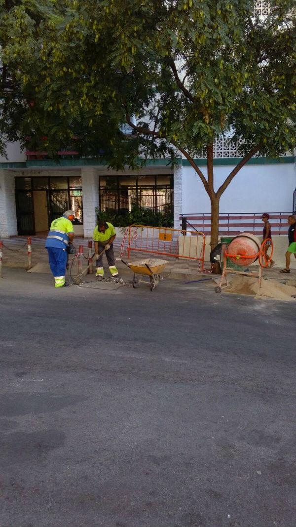 Servicios Operativos realizan obras de mejora en la Urbanización Las Naciones