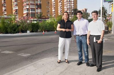 El Ayuntamiento de Benalmádena Acomete las Obras de Mejora y Embellecimiento de la Rotonda de Solymar.