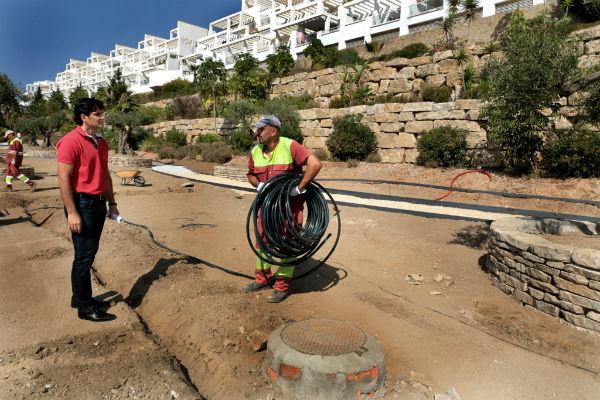 Las obras del parque en la avenida Retamar se encuentran al 70% de ejecución
