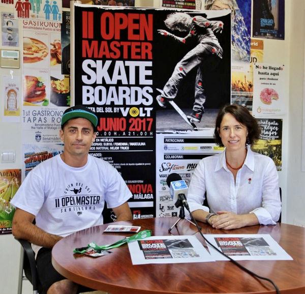Presentado el II Open Máster Skate Boards Costa del Sol que se disputa el 24 de junio en el Skate Park de Arroyo de la Miel