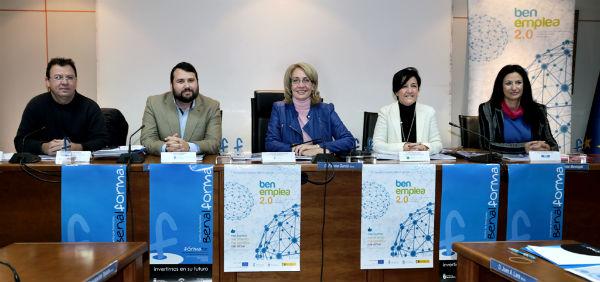 La alcaldesa destaca la necesidad de 'aunar y coordinar esfuerzos con la finalidad de mejorar la empleabilidad en el municipio'