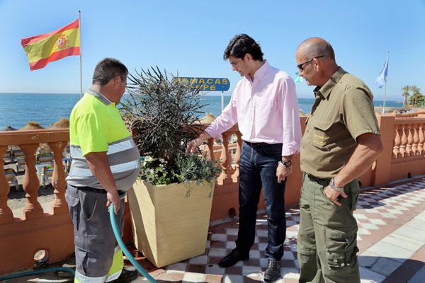 El Ayuntamiento acomete un plan de embellecimiento del Paseo Marítimo de cara al inicio de la temporada estival