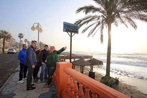 Técnicos municipales realizan un inventario de los daños del temporal de levante para reclamar a Costas los arreglos