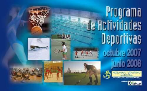 NUEVO PROGRAMA DE ACTIVIDADES DEPORTIVAS DEL PDM