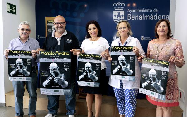 El Auditorio Municipal acogerá el próximo sábado el concierto benéfico 'Voces Prestadas' de Manolo Medina