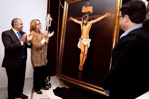 La imagen del Cristo de la Redención, pintada por Josér Soler, anunciará las salidas procesionales de  su cofradía.