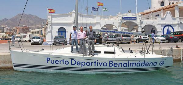 Presentación de la embarcación 'Benalmádena' de la Clase X-35, que competirá la próxima semana en la Copa del Rey en Mallorca