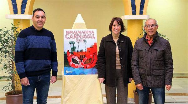 'Poligonal' de José Clavero, obra ganadora del Concurso de Carteles de Carnaval de Benalmádena 2017