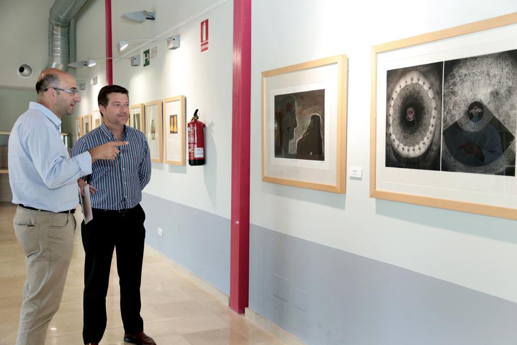El Parque Innova expone desde hoy la colección de obra gráfica de la Diputación de Málaga
