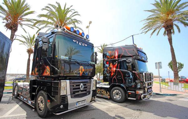 Presentación de espectáculo 'Monster Truck' que se celebrará durante los próximos días en Puerto Marina