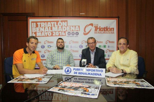 Francisco Salido presenta el II Triatlón de Benalmádena