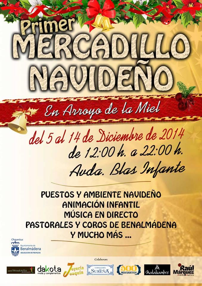 La calle Blas Infante de Arroyo de la Miel acogerá a partir del próximo viernes el I Mercadillo Navideño