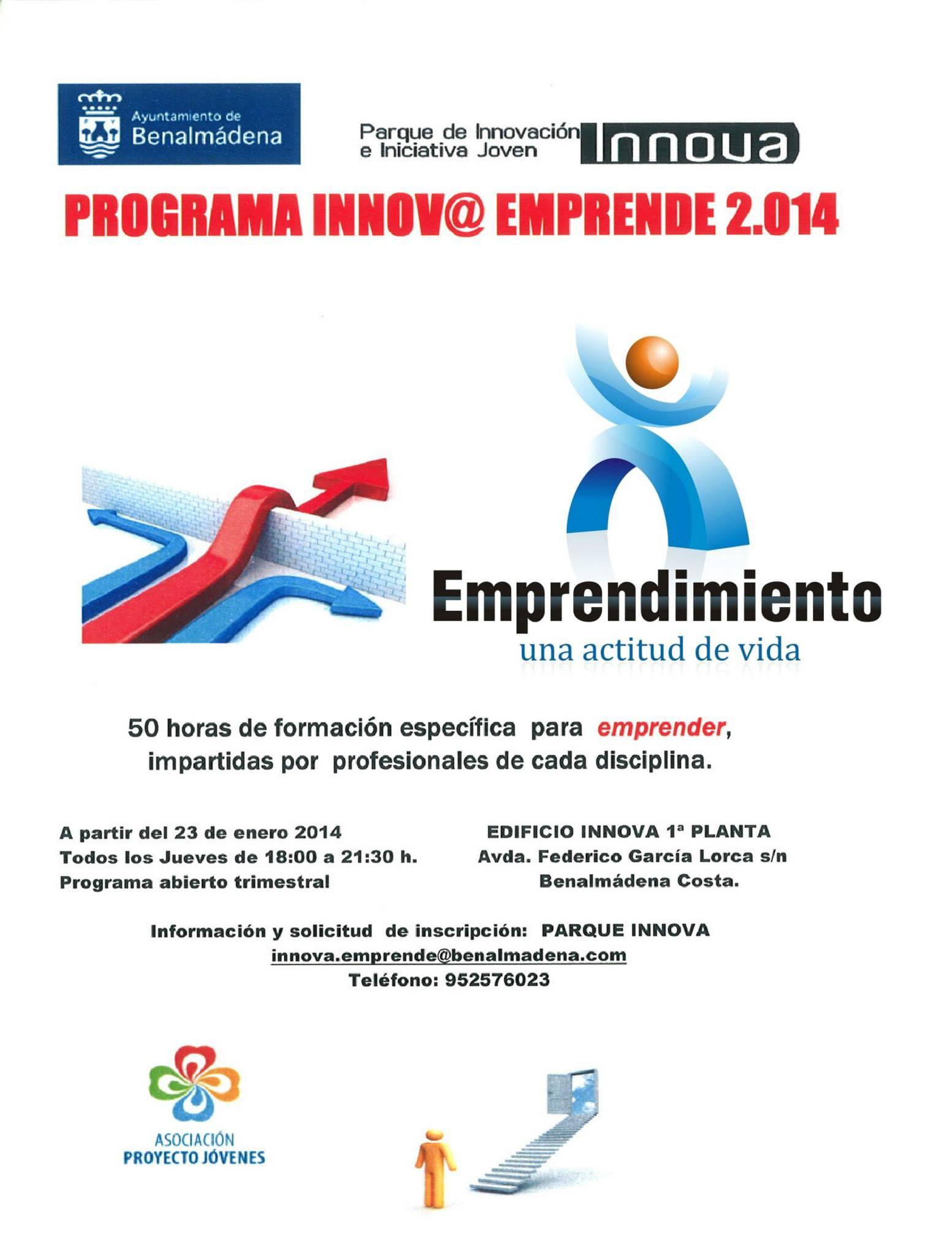 El programa Innov@ Emprende continúa el próximo jueves con la conferencia 'Innovación y Emprendimiento'