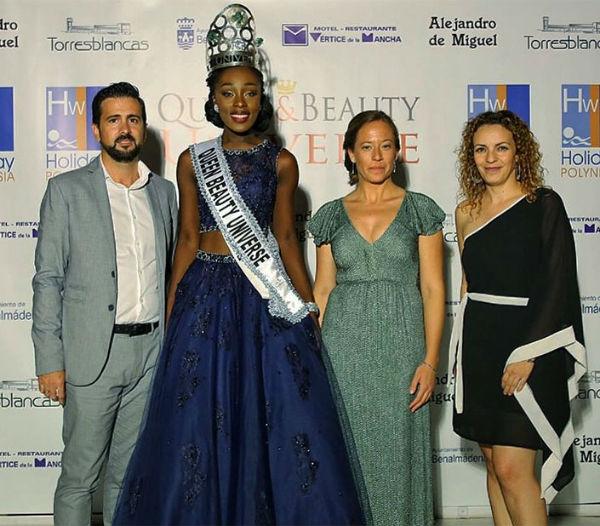 La representante de Ghana, ganadora del Certamen de Belleza 'Queen&Beauty Universe'