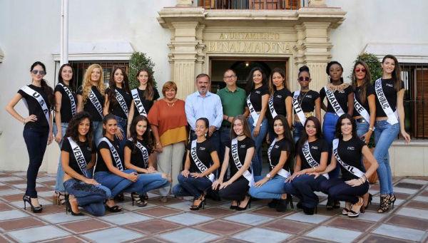 El Primer Teniente de Alcalde recibe a las finalistas del Certamen 'Queen&Beauty Universe'
