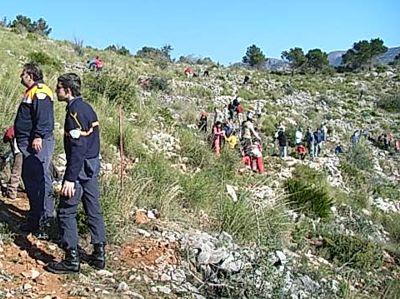 Actividades de reforestación en la sierra de Benalmádena