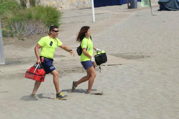 Las playas de Benalmádena acogieron tres simulacros de seguridad