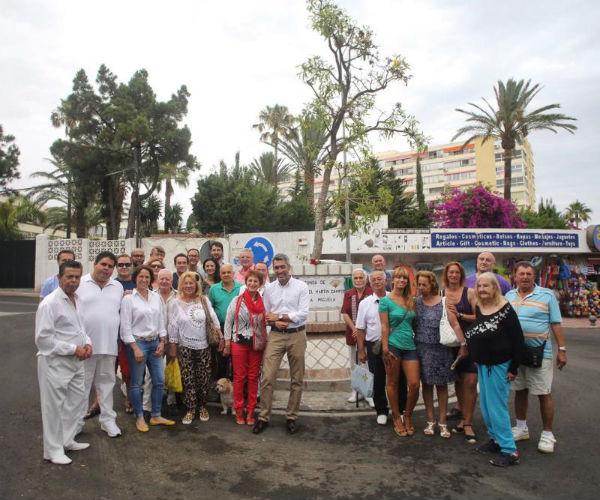 Benalmádena celebra el Día Internacional por los Derechos Humanos del Colectivo LGBTI inaugurando la Rotonda de Miguel Martín Campos 'La Miguela'