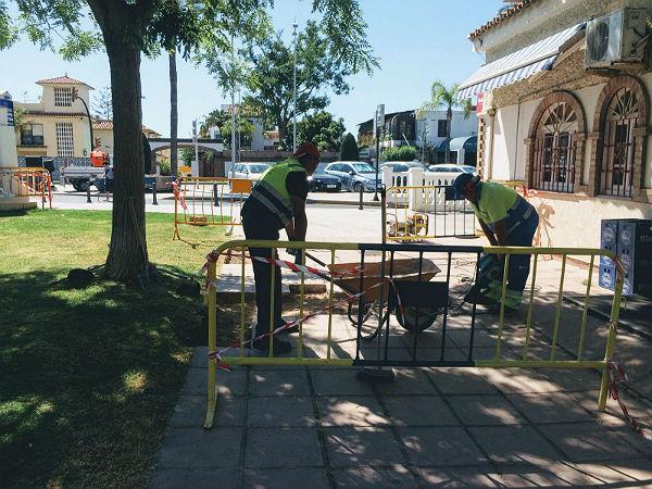 Servicios Operativos realizan actuaciones de mejora en Benalmádena Costa