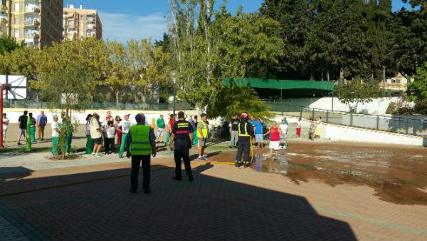 El Centro Ocupacional de Benalmádena acoge un Simulacro de Incendio y Evacuación
