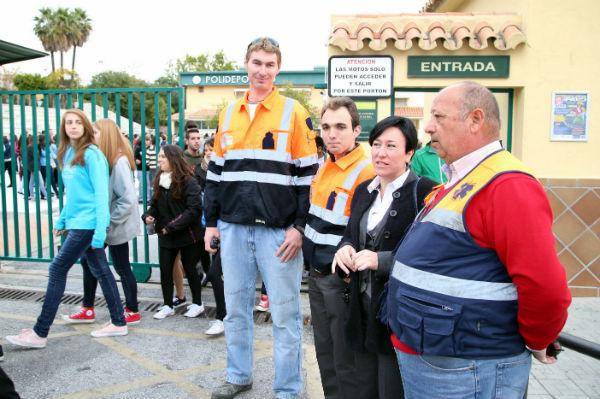 La Seguridad Ciudadana y Emergencias realiza un simulacro de evacuación en IES 'Arroyo de la Miel'