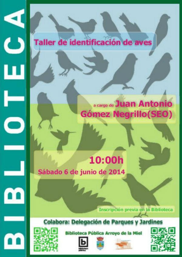 La Biblioteca de Arroyo celebrará el próximo sábado un paseo ornitológico por el Parque de la Paloma