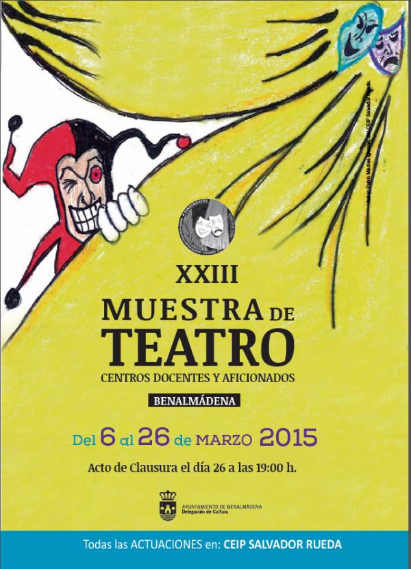 Continúa en el Colegio 'Poeta Salvador Rueda' la XXIII Muestra de Teatros de Centros Docentes y Aficionados