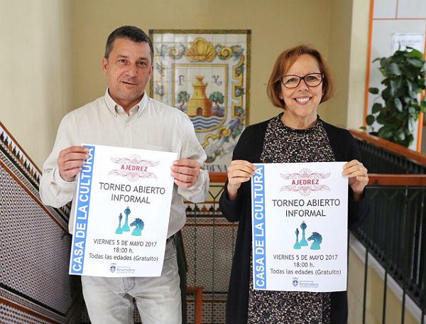 Presentación de la actividad 'Tardes de Ajedrez', que tendrá lugar el próximo 5 de mayo en la Casa de la Cultura