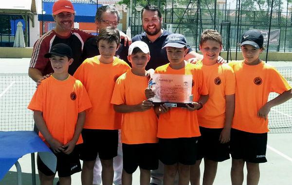 Benalmádena acoge el Campeonato de Andalucía Alevín de Tenis, con victoria para el equipo local