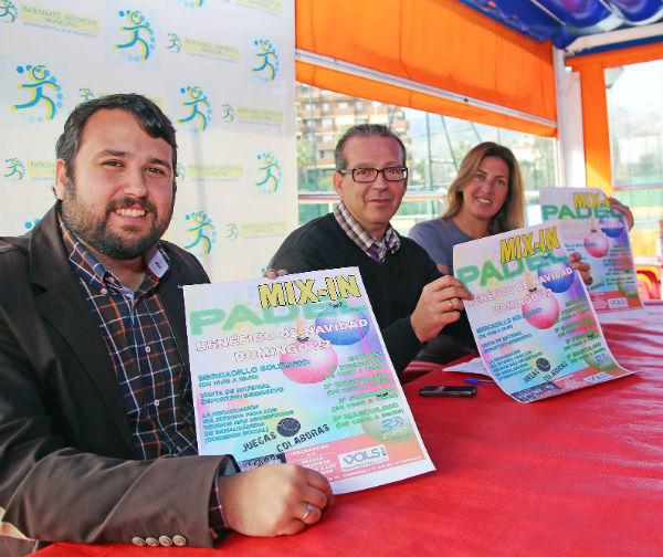 Francisco Salido y Juan Olea presentan el 2º Mix-in de Padel Solidario del equipo femenino del Club Valsport