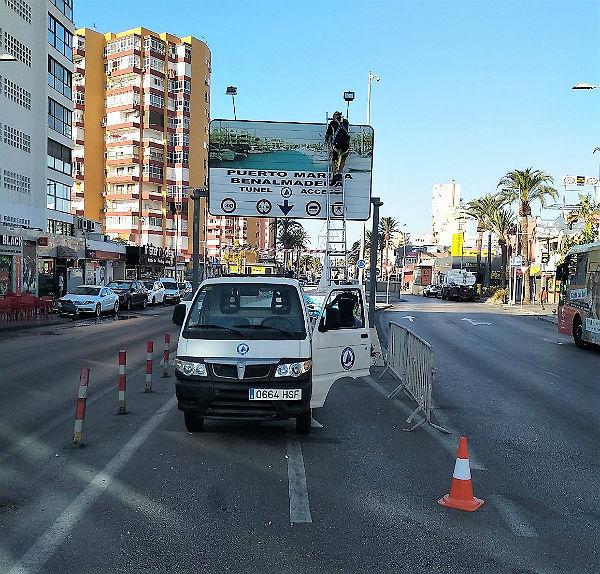 Culminan los trabajos de reparaciones y adecentamiento en el túnel del Puerto Deportivo