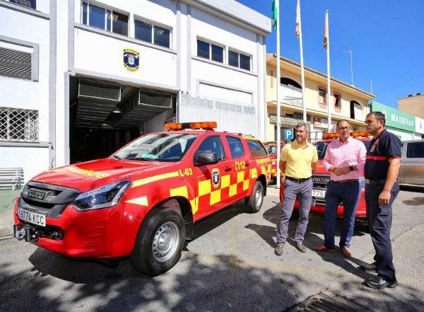 Bomberos de Benalmádena amplía la renovación de su parque móvil con la adquisición de dos nuevos vehículos 4x4