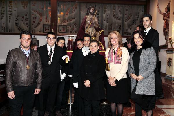 La alcadesa asiste al Via Crucis oficial de la Semana Santa de Benalmádena 2015