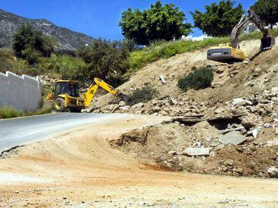 Obras en el vial de Tívoli