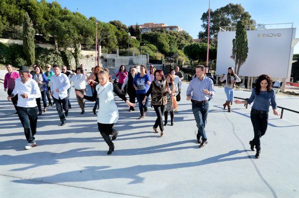 Los enclaves más emblemáticos del municipio se convierten en escenarios principales de la grabación 'Baile latino en Benalmádena'
