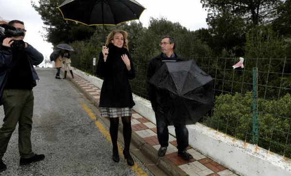 La alcaldesa comprueba los trabajos de mejora y embellecimiento acometidos en Carvajal